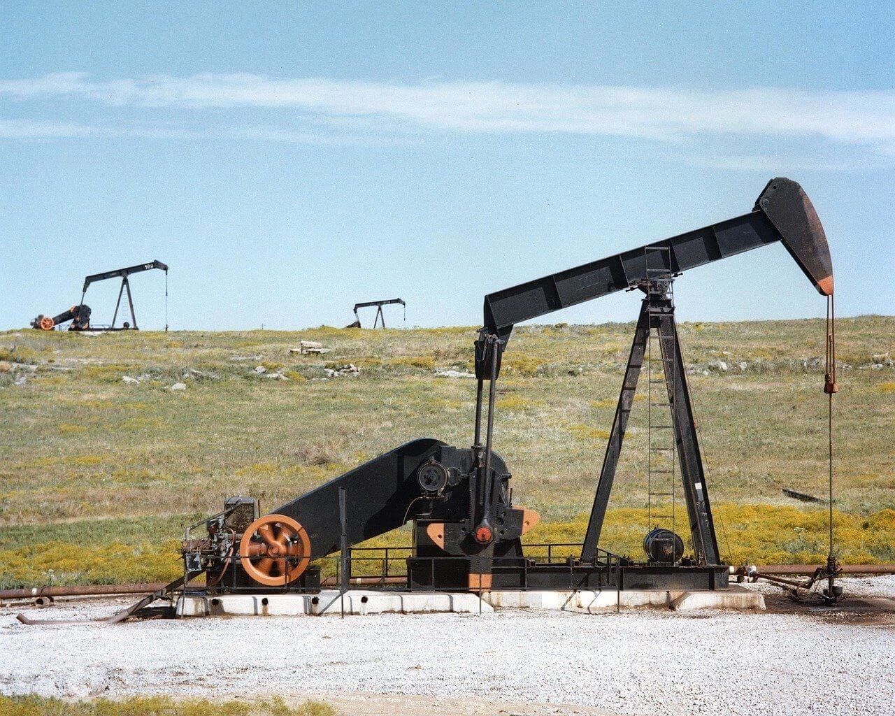olja, oljefält i Texas